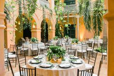 Brian's family is known for hosting the best dinners, and this was certainly one of them! The Colonial courtyard at the Hotel Charleston Santa Teresa was breathtaking with its hanging vines and palm trees. It was the perfect intimate space for our alfresco dinner by Harry Sasson, and the evening's speeches.