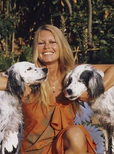 Brigitte Bardot with her dogs at La Madrague, Saint-Tropez, 1980