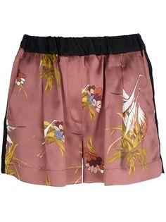 FORTE FORTE Flamingo Print Shorts