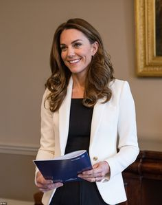 Kate, pictured during a video briefing with Kelly Beaver (Managing Director of Public Affa...