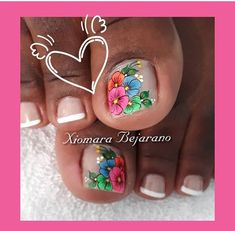 Pretty Toe Nails, Pretty Toes, Fancy Nails, Mani Pedi, Pedicure, French Toe Nails, Butterfly Nail, Toe Nail Designs, Natural Hair Styles