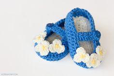 Mary Jane Baby Bootie Crochet Pattern