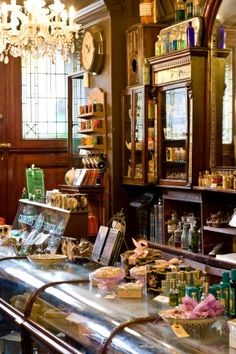 Inside Rose & Co Apothecary, Haworth, West Yorkshire, England. Old General Stores, Old Country Stores, Interior Exterior, Interior Design, Tee Shop, Shop Fronts, Shop Around, Store Displays, Shop Interiors