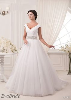 Long Wedding Dress Long Wedding Gown Princess Delicate by EvaBride