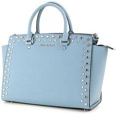Michael Kors Selma Jewel Large Top Zip Satchel Powder Blue Saffiano Leather (Powder Blue) Michael Kors http://www.amazon.com/dp/B00SXGTA4A/ref=cm_sw_r_pi_dp_BOdcvb071XQF7