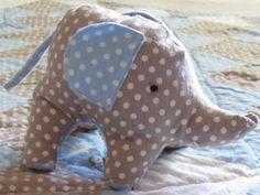Praying With My Feet: Elephant Crib Quilt and Stuffed Elephant