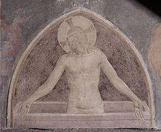 """Fra Angelico - Cristo in pietà è una lunetta affrescata di Beato Angelico conservata nel chiostro detto """"di Sant'Antonino"""" nel convento di San Marco a Firenze. Viene datata al 1442 circa."""