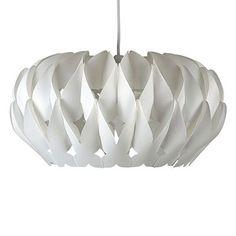 Arena Pleated Ceiling Pednant Light Shade Satin White