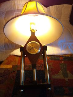 Electric Clock And Lamp Original Shade Marble Roman Numerals Vintage Vintage Mantel Clocks, Electric Clock, Roman Numerals, Marble, Table Lamp, Shades, The Originals, Home Decor, Table Lamps
