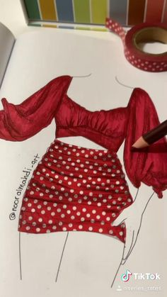Fashion Design Books, Fashion Design Sketchbook, Fashion Design Drawings, Fashion Art, Fashion Sketches, Fashion Drawing Dresses, Fashion Illustration Dresses, Fashion Figure Drawing, Fashion Illustration Tutorial
