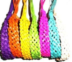 Tribe leather surf bracelet / wrist tie / wristband (pack of 7 bright colors) Tribe Leather. $16.99. Shipping to the USA 3 to 6 days. 7 fab colors to match any outfit !. Save 29%!
