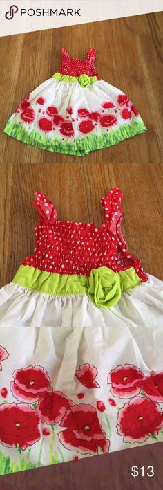 Poppy dress Tank top dress. Chest is all elastic along. Perfect for spring time with a cardigan or summer time. Dresses Casual