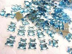 110pc Baby Bear Sparkly Rhinestones Acrylic Jewel (E30-Blue)