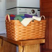 This rectangular shaped basket is great for childrens toys, pet toys, laundry, and wonderful for the back of your vehicle to set your groceries… Large Laundry Basket, Laundry Baskets, Storage Center, Bicycle Basket, Knitting Supplies, Household Chores, Clothes Line, Leather Handle, Pet Toys