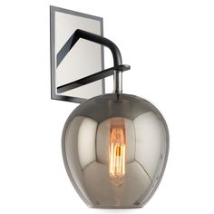 Smoked Glass Drop Wall Sconce - Shades of Light