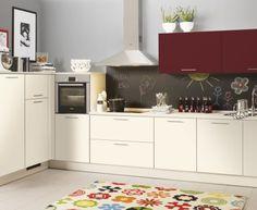 Moderní designová kuchyně Flora. Kuchyně a spotřebiče jedné značky - gorenje. #kuchyně #design #interiér #domov #gorenje Diy Kitchen Storage, Decoration, Buffet, Flora, Kitchen Cabinets, Eat, Furniture, Home Decor, Kitchens