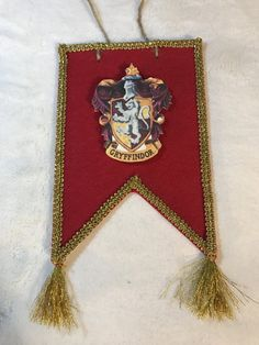Harry Potter inspired Gryffindor Banner by BitsAndBobsByNicole