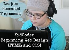 KidCoder Beginning Web Design - a #homeschool computer course for 4th-12th grades