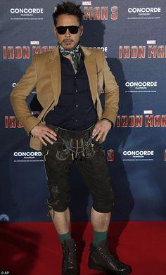Robert Downey Jr. ladies and gentlemen. Iron Man in lederhosen!