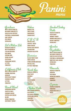 Panini Menu   Whole Foods Market