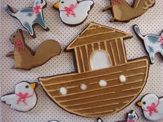 butter hearts sugar:  Animals and Ark Cookies