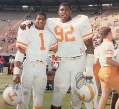 Jenkins and NFL Hall of Famer Reggie White in 1982 as Tennessee Vols Tennessee Volunteers Football, Tennessee Football, University Of Tennessee, Nfl Football Players, Football Cheerleaders, Vol Nation, Neyland Stadium, Collage Football, Tn Vols