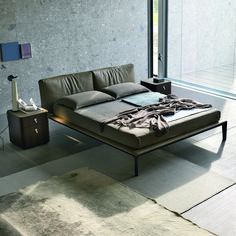 Join is a the perfect bed that can finish an extremely charming night area with its stylistic forms and the perfect combination of a metal frame and upholstered cover.