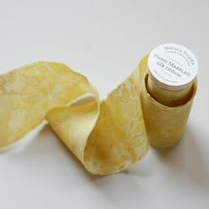 Goldenrod Marbled Silk Ribbon