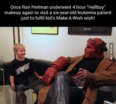 Good guy Ron Perlman. That would also be my wish!