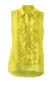 Discover Cabi's Reign Blouse, a blouse with electric color that will catch eyes, but a fun frill softens the glow. View our fall women's clothing collection.