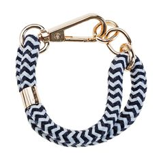 NAVY AND WHITE ROPE BRACELET