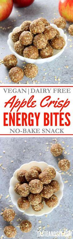 Apple Crisp Energy Bites – the perfect healthy no-bake snack that tastes like heaven. Apple Crisp Energy Bites – the perfect healthy no-bake snack that tastes like heaven. Protein Bites, Protein Snacks, Energy Snacks, High Protein, Healthy Treats, Healthy Baking, Healthy Foods, Healthy Recipes, Dairy Free Apple Crisp