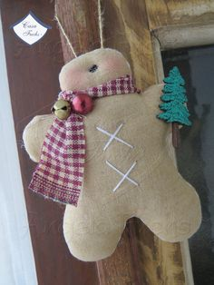 Gingerbread enfeite de árvore 2014