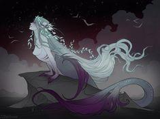 Starlight by IrenHorrors on DeviantArt Mermaid Artwork, Horror, Art Programs, Victorian Gothic, Fantasy Creatures, Macabre, Manga Art, The Little Mermaid, Mythology
