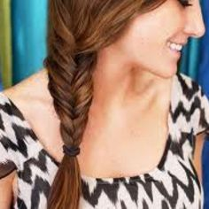 A neat fish tail braid to the side