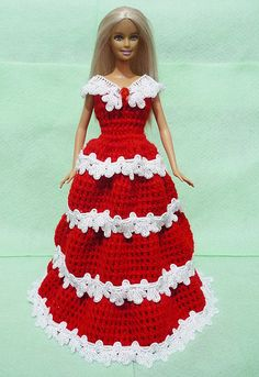 Crocheted Doll Dress 04 by HakoAmigurumi on Etsy