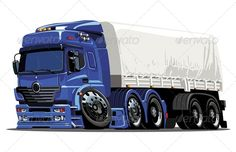 Vector Cartoon Semi Truck  #GraphicRiver         Available hi-res JPG , AI-10 and EPS vecotr formats separated by groups and layers for easy edit. More cartoon cars and transportation illustrations see in my portfolio   Also you can check at my Collections:  Vector Cartoon Cars  Vector Cartoon Trucks  Detailed Vector Cars modern and retro  Detailed Vector Trucks Vans Tractors and Pickups  Detailed Vector realistic and cartoon styled Buses  Vector aircrafts, airplanes, retro, modern…