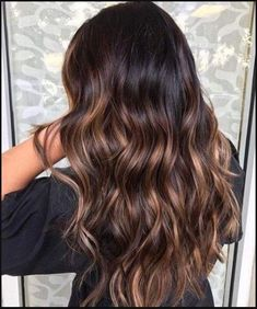 dark coconut balayage hair color | Hair | Pinterest | Balayage ... | Einfache Frisuren