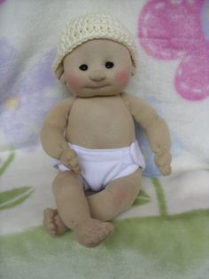 Sock Baby Doll - Boy/Girl - Made from Socks - Lali Doll