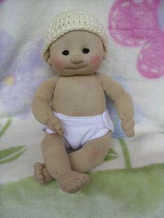Sock Baby Doll - Boy/Girl - Made from Socks - Lali Doll