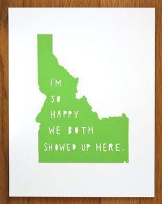 I'm So HappyIDAHO by TwoSarahs on Etsy