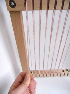 How to Weave with a Frame Loom #weaving #yarn #diy                                                                                                                                                                                 More