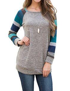 4de9f35ee8b555 POSESHE Women s Cotton Knitted Long Sleeve Lightweight Tunic Top