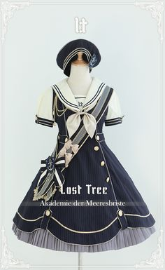 Lost Tree -Akademie der Meeresbrise- Lolita OP Dress - Pre-order Closed