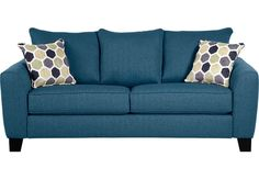 Shop for a Bonita Springs Blue Sleeper Sofa at Rooms To Go. Find Sleeper Sofas that will look great in your home and complement the rest of your furniture. Sprung Sofa, Sofa Inspiration, Blue Living Room, Contemporary Sofa, Blue Loveseat, Sleeper Sofa, Blue Sleeper Sofa, Blue Sofa, Sofa