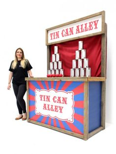 Tin Can Alley Fairground Game, Games Theme Prop Hire