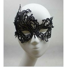 Sexy Black Lace Mask Mysterious Masquerade Ball Mask 50 shades of grey... (9.34 AUD) ❤ liked on Polyvore featuring costumes, masquerade costume, party halloween costumes, lace costume, sexy burlesque costumes and ball costume