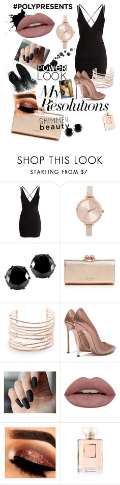 """#PolyPresents: New Year's Resolutions"" by cheer-isabella ❤ liked on Polyvore featuring Michael Kors, West Coast Jewelry, Ted Baker, Alexis Bittar, Chanel, contestentry and polyPresents"