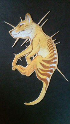 Thylacine Thorns, gouache marandart on tumblr