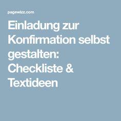 Einladung zur Konfirmation selbst gestalten: Checkliste & Textideen